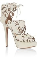 Charlotte Olympia Belinda Cut-out Suede Sandals - Lyst
