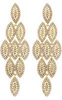Fragments Rhinestone Marquise Chandelier Earrings - Lyst