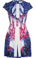 Peter Pilotto Stretch Silk Printed Mira Dress - Lyst