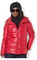 Lauren by Ralph Lauren Hooded Down Jacket - Lyst