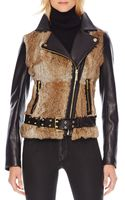 Michael by Michael Kors Furfront Motorcycle Jacket - Lyst