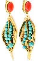 Aurelie Bidermann Monteroso Goldplated Leaves Clip Earrings - Lyst