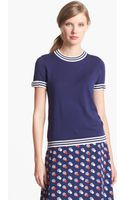 Kate Spade Anabela Cotton Blend Sweater - Lyst