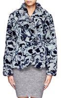 Armani Printed Rabbit Fur Jacket - Lyst
