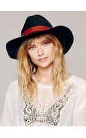 Free People Leather Band Brimmed H - Lyst