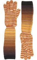 Missoni Long Slouchy Knit Gloves - Lyst