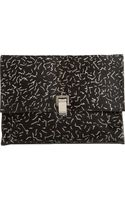 Proenza Schouler Large Lunch Bag Clutch Calf Hair leather - Lyst