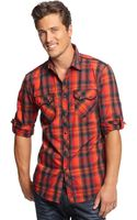 Inc International Concepts Core Long Sleeve Ramirez Plaid Shirt - Lyst