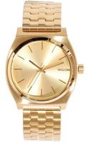 Nixon The Time Teller All Gold Watch - Lyst