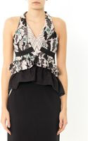 Peter Pilotto Amanda Leafprint Peplum Top - Lyst