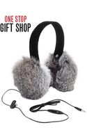 Surell Rabbit Fur Ear Muff Headphones - Lyst