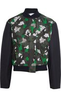Camilla & Marc Printed Silk and Cotton blend Bomber Jacket - Lyst