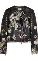 Erdem Jade Floral print Nappa Leather Biker Jacket - Lyst