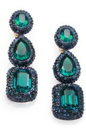 Oscar de la Renta Jewel Drop Clipon Earrings - Lyst