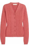 Stella McCartney Cable Knit Wool Cardigan - Lyst