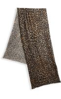 White + Warren Leopardprint Cashmere Scarf - Lyst