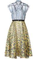 Mary Katrantzou Silk Printed Drive Dress in Multi - Lyst