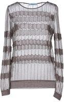 Blumarine Long Sleeve Sweater - Lyst