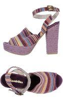 Espadrilles heels sandal heels platform heels - Lyst