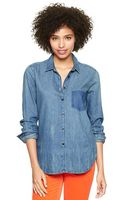 Gap Shadow Pocket Denim Shirt - Lyst