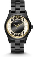 Marc By Marc Jacobs Henry Skeleton Watch Black - Lyst