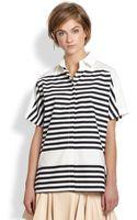 Derek Lam 10 Crosby Shortsleeve Striped Shirt - Lyst