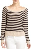 BCBGMAXAZRIA Risa Striped Knit Raglan Sweater - Lyst