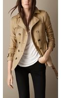 Burberry Peplum Trench Jacket - Lyst