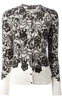 Dolce & Gabbana Lace Print Cardigan - Lyst