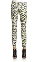 Just Cavalli Jaguar Print Skinny Pants - Lyst
