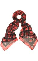 McQ by Alexander McQueen Caged Arrow Logo Print Scarf - Lyst