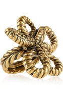 Oscar de la Renta Goldplated Knot Ring - Lyst