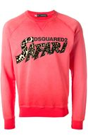 DSquared2 Safari Logo Print Sweatshirt - Lyst