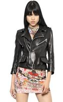 Alexander McQueen Soft Nappa Leather Biker Jacket - Lyst