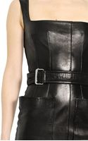 Alexander McQueen Soft Nappa Leather Dress - Lyst