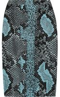 Antonio Berardi Pythonjacquard Pencil Skirt - Lyst