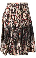 Bottega Veneta Pleated Patterned Skirt - Lyst