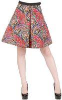 Caterina Gatta Printed Crepe De Chine Skirt - Lyst