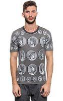 Dolce & Gabbana Coin Printed Cotton Jersey T-shirt - Lyst