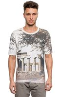 Dolce & Gabbana Ulivo Printed Cotton Jersey T-shirt - Lyst