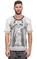 Dolce & Gabbana Zeus Printed Cotton Jersey T-shirt - Lyst
