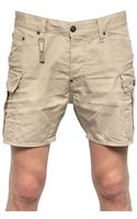 DSquared2 Cotton Twill Cargo Shorts - Lyst
