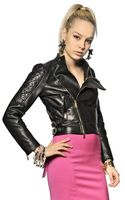 DSquared2 Quilted Nappa Leather Biker Jacket - Lyst