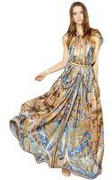 Etro Lurex Woven Cashmere Silk Long Dress - Lyst