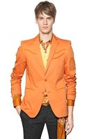 Etro Stretch Gabardine Western Jacket - Lyst