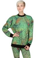 Jeremy Scott Monster Print Techno Fleece Sweatshirt - Lyst