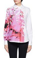 Preen By Thorton Bregazzi Floral Splashed Shirt - Lyst