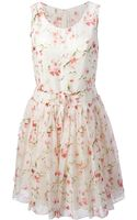 RED Valentino Floral Flared Dress - Lyst