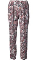 Stella McCartney Print Trousers - Lyst