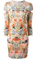 Alexander McQueen Floral Print Jersey Dress - Lyst